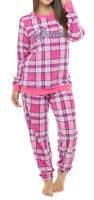 i-Smalls Women's Check Print Twosie Pyjama Set in Super Soft Microfleece 16-18
