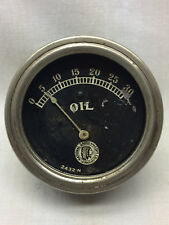 Vintage National Gauge & Eqpt Co Oil Part No 2432 N Car Automobile Meter