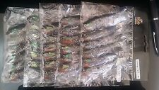 """30 pre-rigged soft plastic fishing lures BRAND NEW 4"""" long tail lure"""
