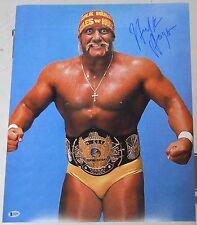 Hulk Hogan Signed 16x20 Photo BAS Beckett COA WWE Winged Eagle Belt Picture Auto