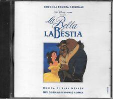 """RARO CD FUORI CATALOGO 1991 WALT DISNEY """" LA BELLA E LA BESTIA """" GINO PAOLI"""