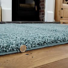 120x170cm Large Modern Duck Egg Blue 5cm Shaggy Rugs Thick Soft Pile Rug