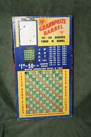 "Vintage 10-Cent ""Grand Prize Barrel"" 622 Hole Punch Board Serial 21010 Unpunched"