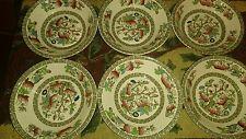 Rara Vintage Johnson Bros Pintado a Mano Árbol indio pequeños cuencos X 6