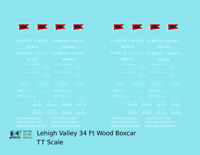 K4 TT Decals Lehigh Valley 34 Ft Wood Boxcar White