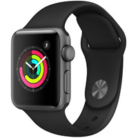 Apple Watch Series 3 42MM GPS Space Gray with Gray Sport Band MR362LL/A