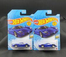 2021 Hot Wheels Nissan R390 GT1 #138 Blue - Set of 2