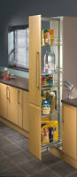 Pull Out Larder Unit Centre Mounting, Height Adjustable 1700-2200mm, 300mm Width