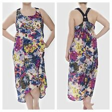 JunaRose Simply Fab Plus Size 20 Floral Print Hi Low Hem Summer Occasion DRESS