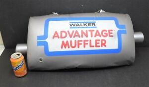 """Vintage WALKER MUFFLERS Inflatable Muffler Advertising SIGN 29"""" x 12"""""""