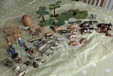 More details for vintage britains farm lead animals & figures x59 pieces job lot