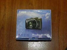 Open Box - Canon PowerShot SX130 HS 12.1 MP Camera - BLACK - 013803127386