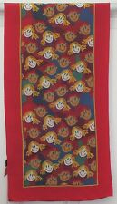 TERRIART Red, Green, Yellow, Blue Kids SILK 44x11 Long Scarf-Vintage
