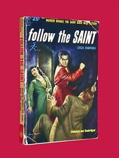 Vintage 1938 LESLIE CHARTERIS Follow the Saint SIMON TEMPLAR Avon 533 Paperback
