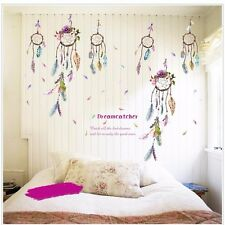 Dream catcher Wall Sticker Vinyl Feather Bedroom Home Decal Mural Art Decor DIY