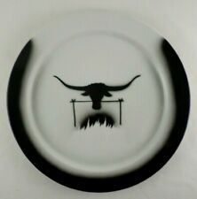 "Jackson China Restaurant Ware Western Black Longhorn Steer 12"" Plate Airbrush J1"