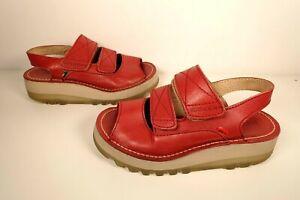 Kickers Chunky Platform Slingback Sandals Red UK SIZE 5 - VGC