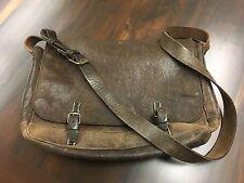 John Varvatos vintage messenger leather bag