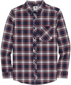 Element Mens Shirt Red Blue Size 2XL Button Down Lumber Plaid Flannel $60 029