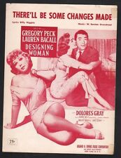 There'll Be Some Changes Made Gregory Peck Lauren Bacall Sheet Music