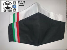PACK 2 Mascherina Mascherine 100% DOPPIO COTONE ITALIA BIANCO NERO