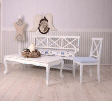 Coffee Table White Side Cottage Shabby Living Room