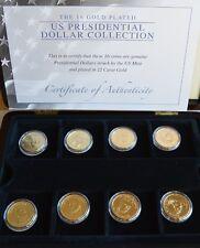 Les 16 pièces plaqué or présidentielle américaine Dollar Collection (1)