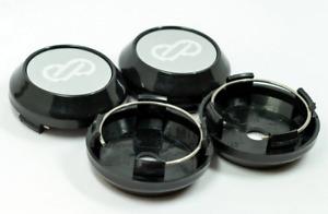 4pcs 64mm Enkei Wheel Center Caps Rim Caps Hub Caps Emblems Decals Silver Black