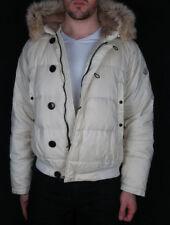 MONCLER Bulgarie tampon Men's Cream Down Fur Parka Jacket Size 3 42 52 L Large