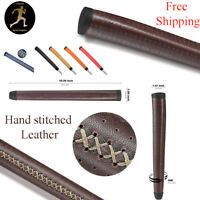 Leather Midsize Putter Grip Back Stitched High Quality Golf grip Free Shipping