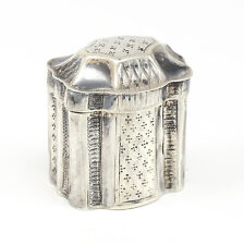 Dutch Hand Chased .822 Silver Pill Box. Makers Mark, Weight 23.83 grams