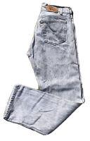 "Vintage Levi's Button Fly 501 Jeans Gray Acid Wash 32 30 (31 1/2"" Waist)"