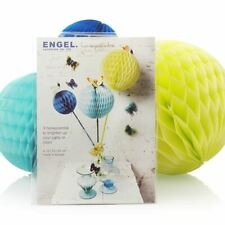 Ressort - 3xColourful Honeycombs - 10, 15, 20cms Bleu/Turquoise/Yellow-Engelpunt
