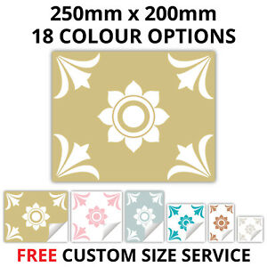 Traditional Tile Stickers Transfer Kitchen Bathroom 250mm x 200mm 18 Colours T19