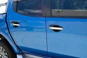 Black Door Handle Bowl Insert Scratch Cover for Mitsubishi Triton MQ MR 2015-21