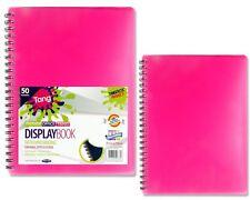 Premier A4 50 Pocket (100 View) Wiro Tang Bright Colour Display Book Folder X 1