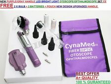 Otoscope Ophthalmoscope Opthalmoscope Examination LED Diagnostic ENT-PURPLE/GRAY