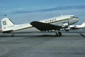 35mm Aircraft Slide Skyways Cargo G-APBC Douglas C-47 Skytrain 1978
