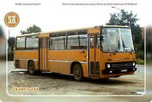 "Blechschild 20x30cm ""Oldtimer-Busse im Osten - Ikarus 266"" Nr. 58"