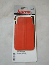 Hama 104585 Mobile Phone Case  - Orange Real Leather - iPhone 3G / 4G
