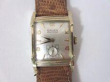 Vintage men's Gruen Precision veri-thin 1951 watch 10k Rolled Gold Plate