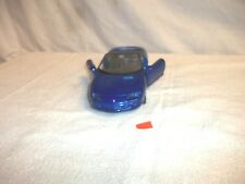 Welly Camaro Z-28 1:24 Die-cast toy Blue and Chrome - No Box N15