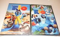 Lot of 2  Rio 1 & 2  DVD WS  Animated Anne Hathaway Bruno Mars  NEW