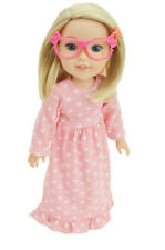 """Pink Doll Eyeglasses fits 14.5"""" Dolls Pink Kitty Glasses for 14.5"""" Doll"""