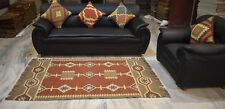 Hand Woven Turkish Jute Rug 4x6 Feet Rectangle Guest Room Living Room Area Rug
