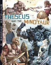 Theseus and the Minotaur: A Graphic Retelling (Ancient Myths)-ExLibrary