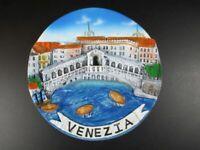 Venice Rialto Bridge Collection Plate 14 CM Poly Italy,Italy Travel Souvenir,New