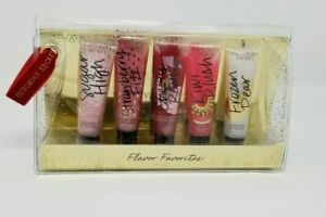 Victoria's Secret Flavor Favorites 5 Piece Lip Gloss Gift Set NIP Cherry Pear VS