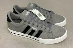 Adidas Daily 3.0 Skateboarding Sneakers Gray Black White FW3270 Men's Size 9.5