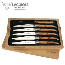 Laguiole en Aubrac - Sechs Steakmesser aus Frankreich - Wacholder Tafel-Messer